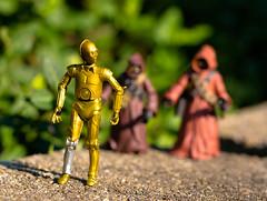 Did I hear Something?! (atari_warlord) Tags: 375 actionfigure c3po droid hasbro jawa starwars