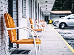 Starlight Motel (paulh192) Tags: michigan saugatuck douglas motel starlight midcentury retro orange chair bokeh leica