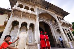 City Palace Door (PiccolaSayuri) Tags: jaipur india rajasthan citypalace pinkcity haryana uttarpradesh madhyapradesh delhi mandawa bikaner jaisalmer jodhpur udaipur agra fathpursikri gwalior orchha khajuraho varanasi incredibleindia hindu temples forts colours people faces