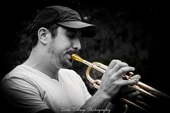 "Trumpet player. ("" Little village Photography "") Tags:"