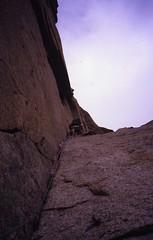 Above the Jammed Block (andywalker1) Tags: andrewwalker americandirect dru petitdru chamonix alps alpineclimbing