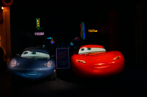 "Radiator Springs Racers - Sally and Lightning • <a style=""font-size:0.8em;"" href=""http://www.flickr.com/photos/28558260@N04/29146733181/"" target=""_blank"">View on Flickr</a>"