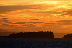 And the sun scattered its gold all over (Ib Aarmo) Tags: evening sunset sea fjord cloud clouds colors outdoor nature