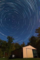 you can align the stars easily with enough photoshop (twinsfan7777) Tags: stars starstax startrails astrophotography night longexposure sky cabin upnorth nature milkyway moon beingagain canon canoneos70d canonef14mmf28l dolica