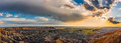 Badlands NP Sunset 2.3 (Jack Lefor) Tags: landscape scenic nikon sunset clouds panorama panoramic fineart nikond810 southdakota rugged nature ouitdoors