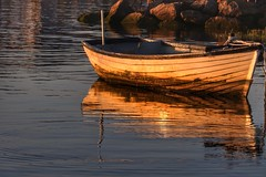 Reflected Rowing Boat (Nick Fewings 4.5 Million Views) Tags: uk dorset canon nickfewings golden reflection boat water