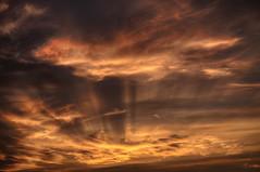 Cloud Art (Klaus Ficker --Landscape and Nature Photographer--) Tags: sunset sonnenuntergang rays clouds wolken art evening kentucky kentuckyphotography klausficker canon eos5dmarkii