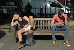 yuytdgffefeef (Pixel whippersnapper) Tags: london soho park bench sunshine nap snooze