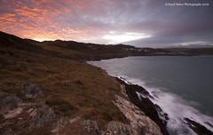 Mortehoe Sunrise, North Devon (Daryl 1988) Tags: northdevon landscapephotography landscape seascape wow sunrise colour redsky waterscape photography nikon d2xs sea ocean rocks cliffs coast coastpath southwestcoastpath coastal sky cloud uk england mortehoe woolacombe coastline
