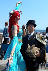 Dr. Takeshi Yamada and Seara (Coney Island Sea Rabbit) at the Mermaid Parade by the Coney Island Beach in Brooklyn, New York on June 18, 2016.  20160618SAT MERMAID PARADE. DSCN6618=p0010C2. (searabbits23) Tags: searabbit seara takeshiyamada  taxidermy roguetaxidermy mart strange cryptozoology uma ufo esp curiosities oddities globalwarming climategate dragon mermaid unicorn art artist alchemy entertainer performer famous sexy playboy bikini fashion vogue goth gothic vampire steampunk barrackobama billclinton billgates sideshow freakshow star king pop god angel celebrity genius amc immortalized tv immortalizer japanese asian mardigras tophat google yahoo bing aol cnn coneyisland brooklyn newyork leonardodavinci damienhirst jeffkoons takashimurakami vangogh pablopicasso salvadordali waltdisney donaldtrump hillaryclinton endangeredspecies parade