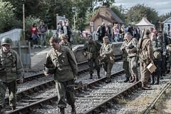 DSC_7393.jpg (john_spreadbury) Tags: ww2 mortar gi homeguard german blacknwhite johnspreadbury reenactment group rifle machinegun stengun cricklade swindon railway troops army english americans uniforms smoke wartime soldiers british