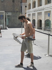 Barcelona Skaters (enric archivell) Tags: guys sexy sexyguys cute skaters skater barechested shirtless