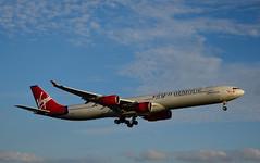 Virgin Atlantic G-VFIT 'Dancing Queen' (Alexander Cromarty) Tags: gvfit airbusa340600 virginatlanticairways phasingout londonheathrow widebody newyorktoheathrow aviation retirement hounslow runway27r