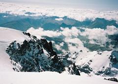 (Nikolay Kulivets) Tags: 35mm film olympusmjuii mjuii kodak georgia caucasus kazbek ridge rocks landscape alpinism snow clouds mountain