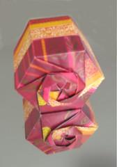 Sechseckschachtel - Hexagon Box (Vielfaeltig2010) Tags: origami box schachtel tomokofuse papierfalten hexagonbox vielfaeltig2010 sechseckschachtel nonmodularebox nichtmodulareschachtel