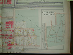 River View Cemetery, 1905 map (rich701) Tags: old vintage newjersey map nj mercercounty 1905 trenton