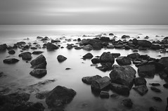 Ter Heijde - Stones (Tvr-photography) Tags: sea white black netherlands monster stones zee filter waterscape ter waterscapes heijde nd110