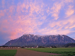 An immense afterglow ~ (rotraud_71) Tags: clouds evening spring fields afterglow gois untersberg salzburgerland fhnwolken spectacularsunsetsandsunrises