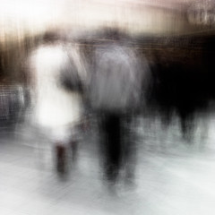 Dagens foto - 212: One (petertandlund) Tags: street city longexposure shadow urban woman motion blur color silhouette subway square movement shadows sweden stockholm dream streetphotography sergelstorg slowshutter dreamy 365 sthlm icm 08 tunnelbana tcentralen anebrun norrmalm 212365 intentionalcameramovement