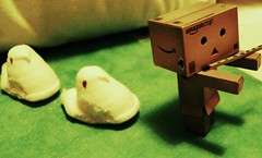 The Pied Peeper (ghostsecurity28) Tags: fun toy toys amusement robot candy sweet creative books kinder surprise sweets imagine imagination peeps danbo revoltech danboard