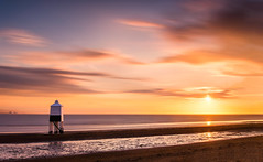 Nuclear Separation - Burnham-On-Sea Sunset (paulwynn-mackenzie.co.uk) Tags: longexposure sunset sea bw sun sunlight lighthouse seascape color colour slr beach clouds photoshop reflections bristol landscape coast sand wind sony blurred a33 le nd processing colourful hinkley slt goldenhour nuclearpower burnhamonsea lightroom nd110 lightroom4