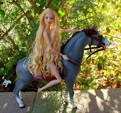Lady  Godiva (napudollworld) Tags: elina horse cali barbie riding topanga mattel fairytopia enchantress