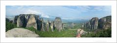 Meteora pano (obenaroya) Tags: panorama clouds rocks greece meteora monasteries