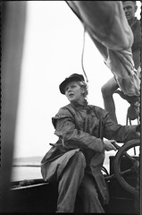 Young woman steering a yacht under sail (Australian National Maritime Museum on The Commons) Tags: woman hat sailboat boats boat women sailing yacht sails sailors boating sail sailor yachts sailingboat vintagephotograph sailingvessel womensfashion nossiter vintagehats vintagepictures vintagepicture worldcruise haroldnossiter
