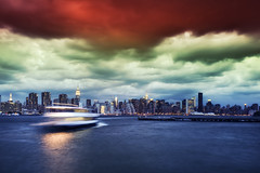 New York City on May 29, 2012 (mudpig) Tags: nyc newyorkcity longexposure sunset ny newyork storm reflection skyline brooklyn geotagged nikon cityscape manhattan longisland queens un esb unitednations eastriver empirestatebuilding gothamist trumptower chryslerbuilding greenpoint fdrdrive f28 hdr fdr littlepoland citicorpbuilding nywaterway onepennplaza indiapoint mudpig stevekelley d3s 1424mm stevenkelley eastriverferry