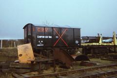 19860331 008 Quainton Road GWR 7T CONE or  Gunpowder Van 105777 Former CXV (15038) Tags: wagon br cone trains goods van railways freight britishrail gunpowder gwr quainton buckinghamshirerailwaycentre cxv 105777