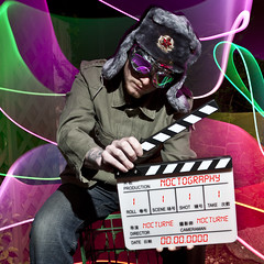 The Director ([Nocturne]) Tags: nightphotography light lightpainting night photo films director russian nocturne clapper clapperboard v24 noctography wwwnoctographycouk