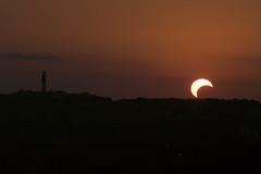 Solar Eclipse - May 20, 2012 (BlazerMan) Tags: sunset lighthouse lake austin solar eclipse texas watertower may austintexas travis 20 20th partial 2012 laketravis phases austintx annular wcid17 afnikkor70300mm1456ded 05202012 20120520 may202012 laketravislighthouse