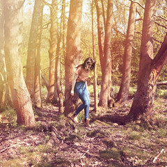 Dreaming of Escape (ItsEmma) Tags: wood trees light portrait sun selfportrait tree green grass self woodland square leaving 50mm escape bright emma dream sunny away running run dreaming escaping selfiesquared itsemma emmareid squareexpand