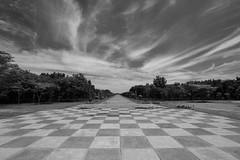 Capas Shrine (Gerald Tejada) Tags: blackandwhite bw white black canon landscape philippines chess 7d manila lanscape 1022 tarlac capas