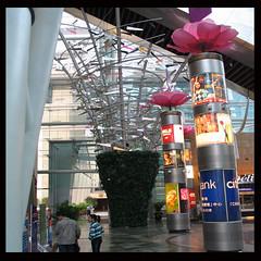 metal tree under large high-speed escalator (Martin Brunt's Project/Works) Tags: architecture canon mall shopping hong kong feng shui langham shoppingmallsinhongkongchina