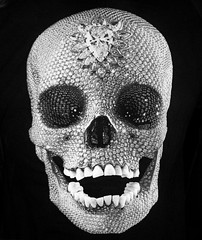 For the Love of God 2007 by Damien Hirst (jjamv) Tags: england london art love diamonds tooth death skull teeth hell tatemodern freeze gb conceptual platinum decadence 2007 traceyemin damienhirst britart goldsmithscollege fortheloveofgod shocktactics ybas youngbritishartists conceptualartists skullstar ringexcellence jjamv thisphotowastakenonmay15 julesvtravel britartists fortheloveofgod2007 usingapanasonicdmctz10 2012insouthbank thisphotowastakenatthetatemodernsouthbanklondon