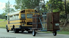 Canoe Escape - International / Thomas Vista School Bus with Canoe Trailer (FormerWMDriver) Tags: school bus little thomas mini canoe international tiny short trailer pulling built towing ih ihc hanicapped 59409