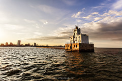 Breakwater Lighthouse (CJ Schmit) Tags: coastguard usa lighthouse water skyline wisconsin clouds canon evening unitedstates lakemichigan milwaukee breakwater 1926 canonef1740mmf40lusm milwaukeebreakwaterlight breakwaterlighthouse 5dmarkii canon5dmarkii cjschmit wwwcjschmitcom cjschmitphotography
