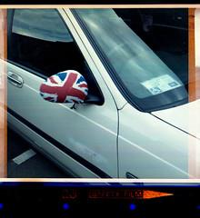 jubilee mirror (pho-Tony) Tags: color colour film square jubilee flag sheffield 28mm expired unionjack obsolete 126 cartridge expiredfilm c41 bootsthechemist kodakinstamatic tetenal reomar kodak233x