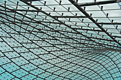 the roof of munich (pictob) Tags: blue roof building glass closeup architecture munich mnchen stadium curves wave dach olympicpark durchsichtig olympiapark kurven olympiastadionmnchen