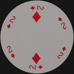 Round Playing Card 2 of Diamonds (Leo Reynolds) Tags: playing diamonds canon eos iso100 diamond deck card round squaredcircle 60mm f80 circular playingcard carddeck 40d hpexif 0067sec xleol30x sqset079