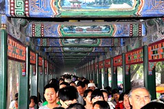 The Long Corridor of Beijing's Summer Palace (missgeok) Tags: china travel people art history vanishingpoint colours pov famous paintings perspective beijing unescoworldheritagesite summerpalace popular crowds 18thcentury packed candidshot imperialgarden leadinglines coveredwalkway thelongcorridor socrowded thelongcorridoratbeijingssummerpalace 728m richpainteddecoration