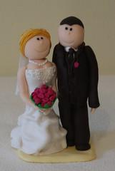 (Ssses Atelier) Tags: wedding fimo hochzeit hochzeitstorte brautpaar individuell personalisiert tortenfiguren tortendekoration