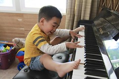 Piano with Feet (byjoshuahung) Tags: musician silly kids creativity artist artistic creative piano timothy kindergartener pianowithfeet