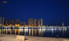 Sea port of Málaga (testanello) Tags: sea night port puerto noche mar málaga testanello