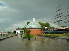 Cutty Sark Gardens Rainbow (kenjonbro) Tags: uk england rainbow cuttysark riverthames foottunnel se10 cuttysarkgardens kenjonbro royalgreenwich fujifilmfinepixhs10 fujihs10