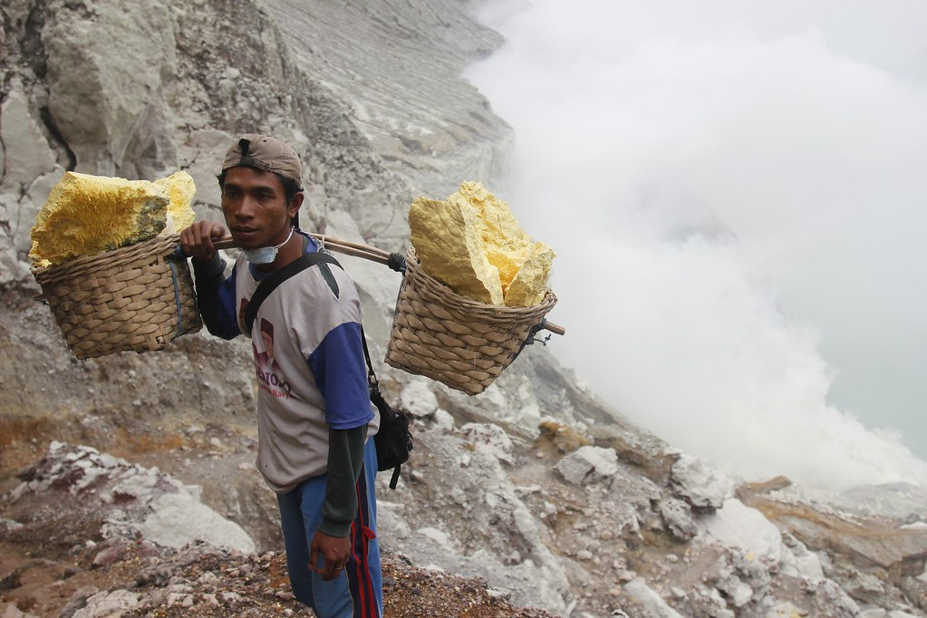 Man with load, Kawah Ijen, East Java, Indonesia