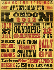 Vintage Olympics Poster Flyer (ZiaroGraphics) Tags: old blue red brown black green london texture sports vintage paper poster typography flyer grunge victorian games stained era western folded olympic olympics letterpress press fonts template