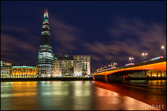 London - The Shard and London Bridge (Yen Baet) Tags: city uk greatbritain travel bridge england urban building london tower water skyline architecture londonbridge river photography photo colorful europe european cityscape waterfront view skyscrapers unitedkingdom britain dusk postcard eu landmark icon tourists structure vista british bluehour olympics picturesque iconic riverthames thamesriver cityoflondon waterscape london2012 britons theshard yenbaet