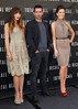 Jessica Biel, Colin Farrell, Kate Beckinsale Los Angeles photocall for 'Total Recall', held at The Four Seasons Hotel in Beverly Hills Los Angeles, California